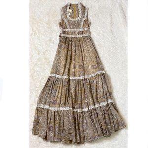 Gunne Sax 70's Vintage Paisley Prairie Dress